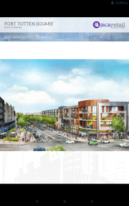 Fort Totten Square Phase I with potential Phase II rendering