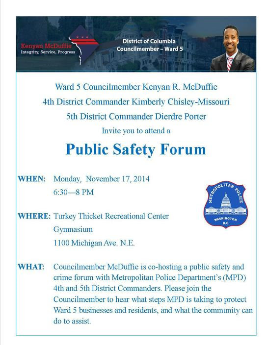Ward 5 Public Safety Meeting