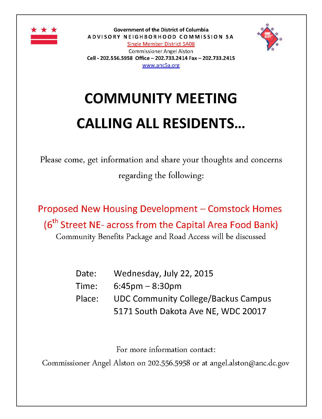 July 22 Totten Mews community meeting flyer-1