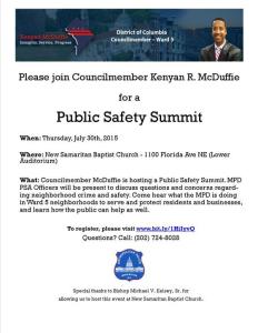 Ward 5 public safety summit