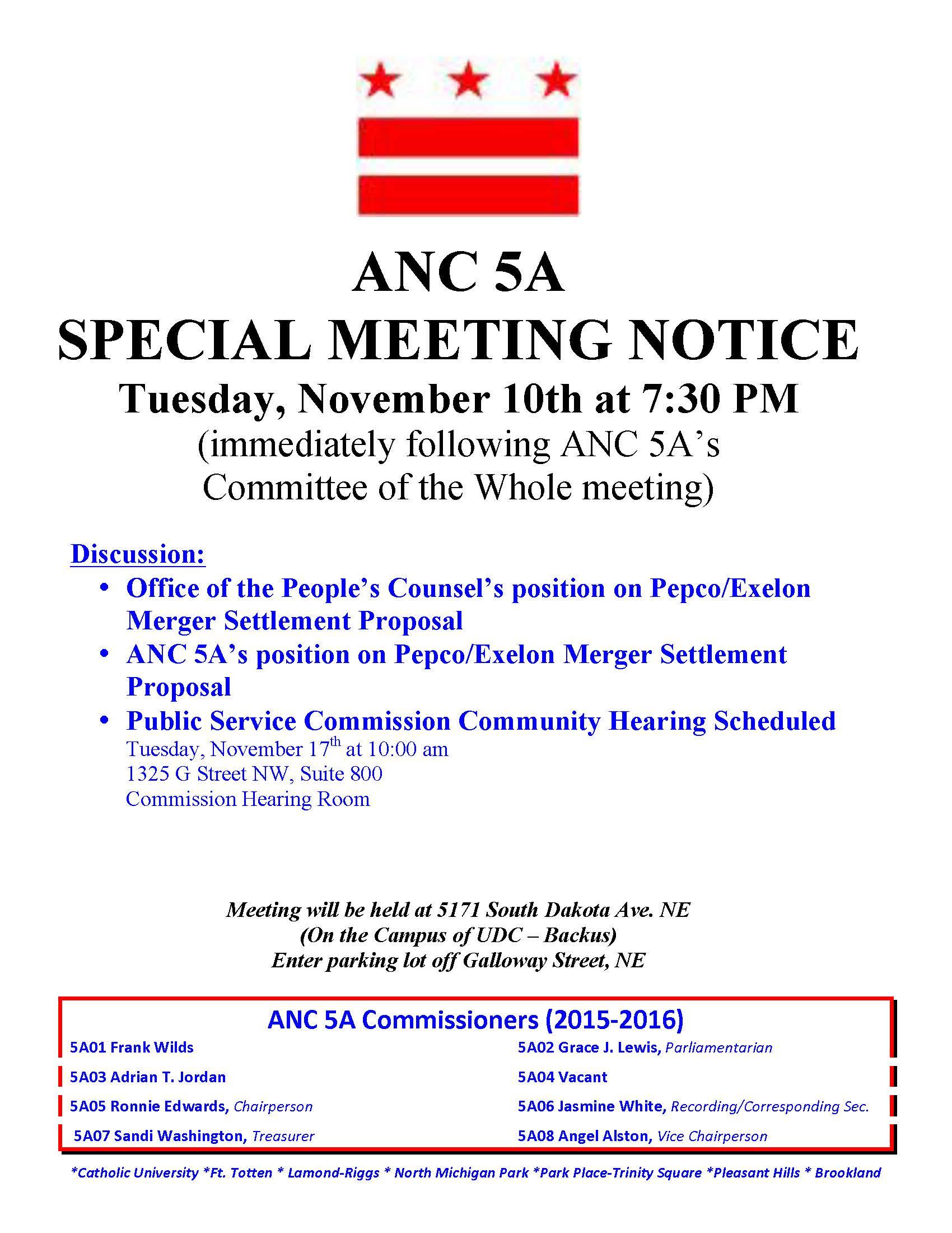 ANC 5A Nov 2015 Special Meeting Notice