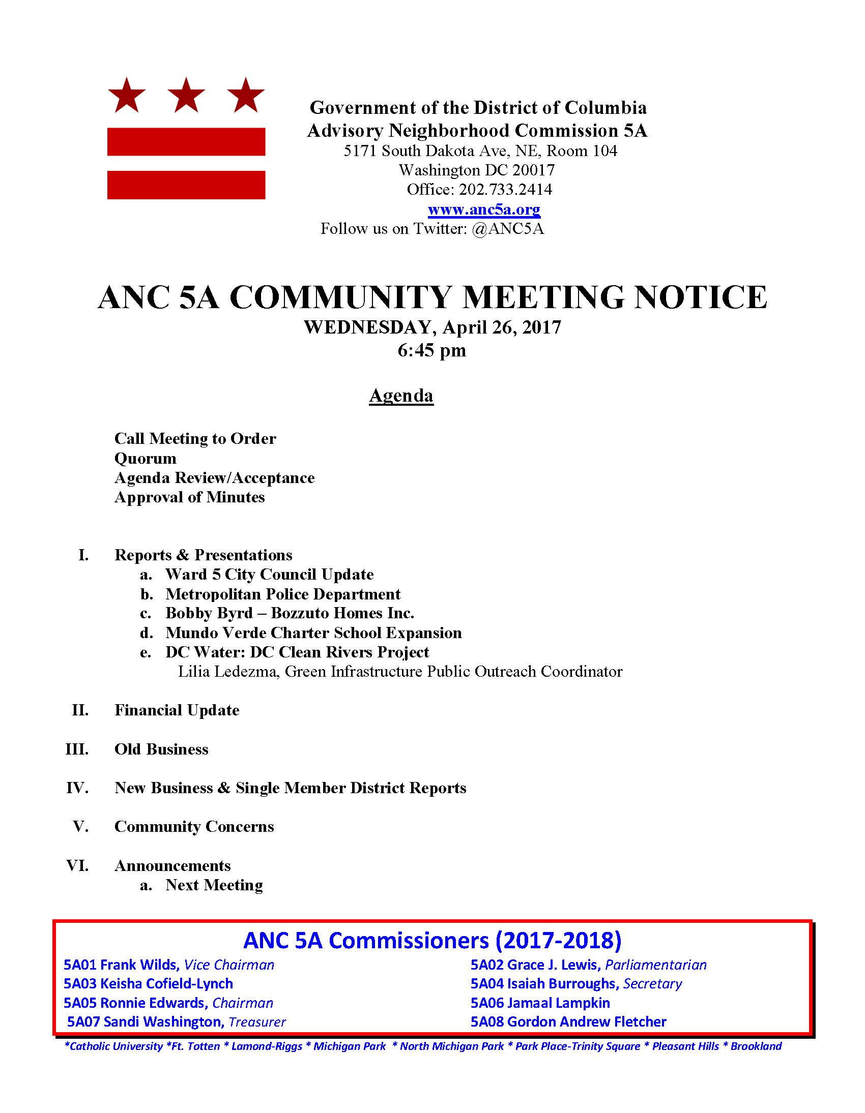 Anc 5a next stopriggs park april 26 anc 5a monthly public meeting 1betcityfo Images
