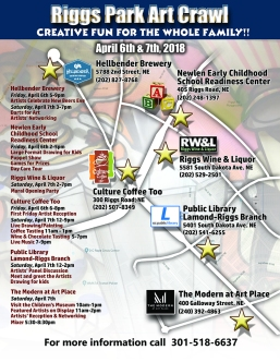Riggs Park Art Crawl Map